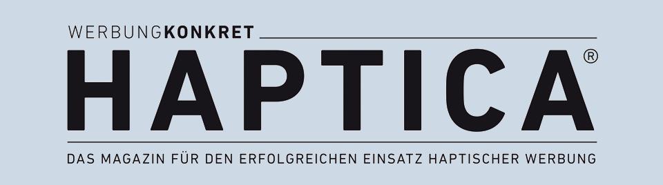 HAPTICA ® – Das Magazin für den erfolgreichen Einsatz haptischer Werbung Logo